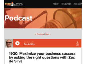 Zac speaks on the top iTunes Business Podcast, Entrepreneur On Fire