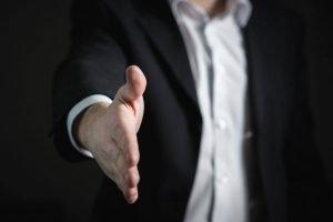 Introductory handshake