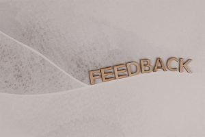 Lettering of the word feedback