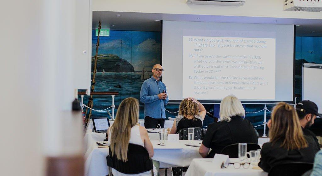 Zac presenting at workshop